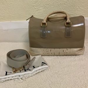 Furla leather/ rubber candy sling bag